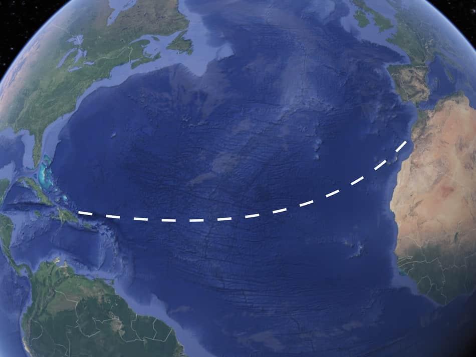 3000m row pass the Atlantic