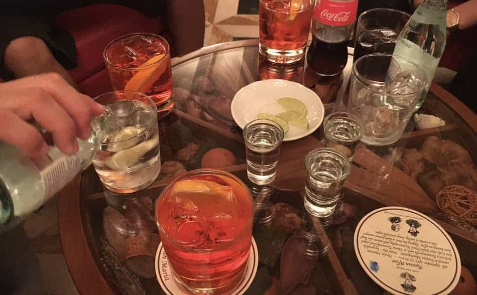 photo of drinks on the table