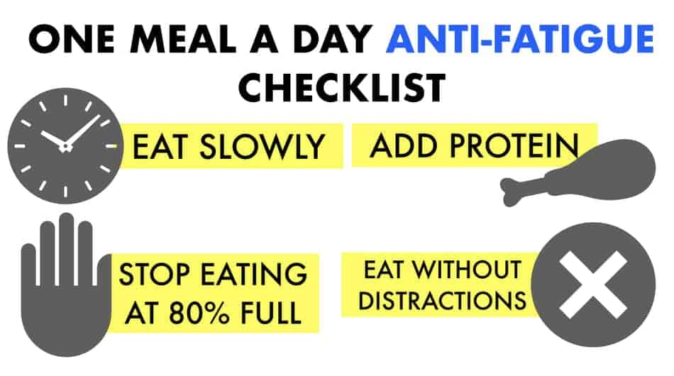 does omad make you feel tired checklist
