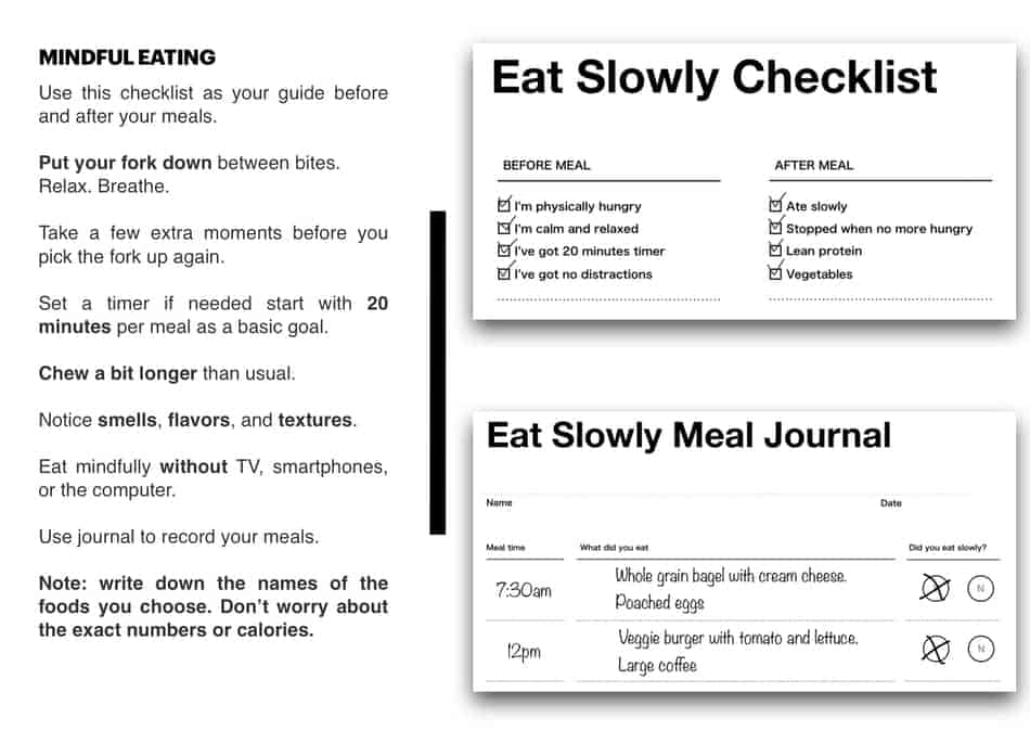 infographic of eat slowly