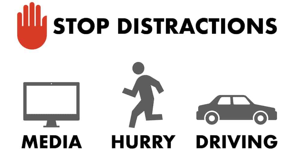 eat without distraction