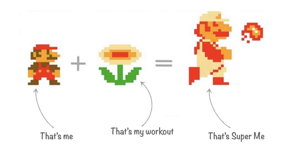 picture of mario after exercise