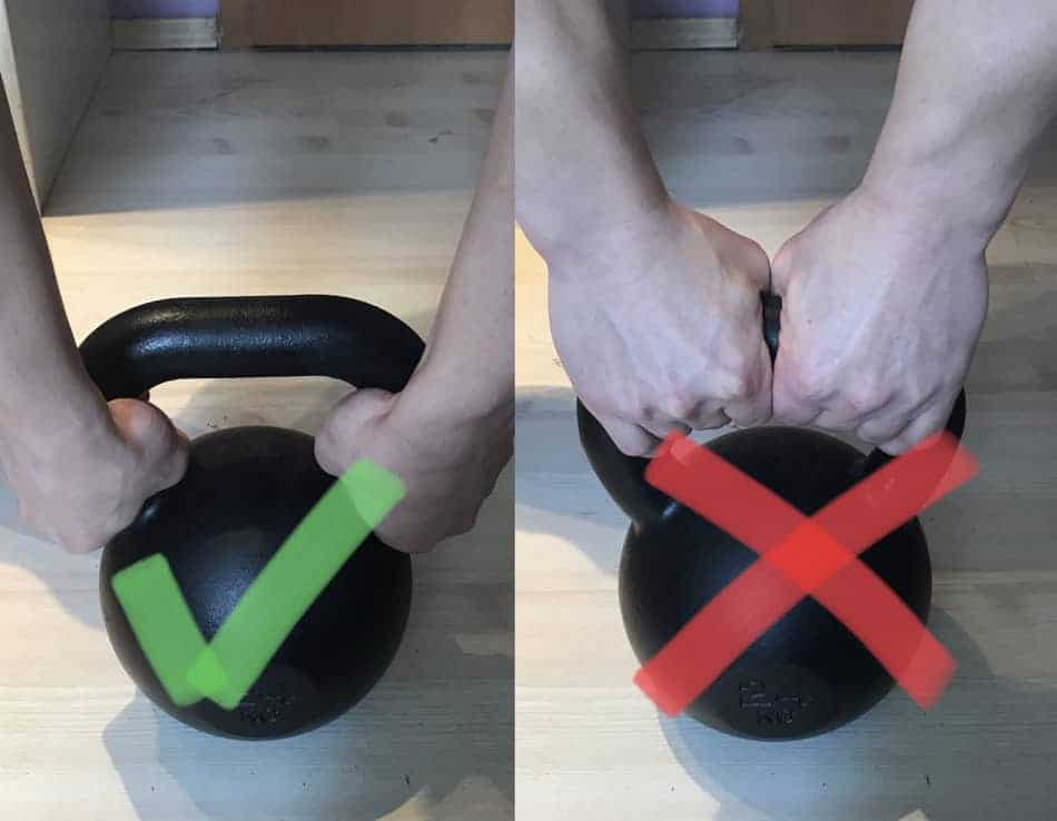 how to hold the kettlebell for golfers elbow