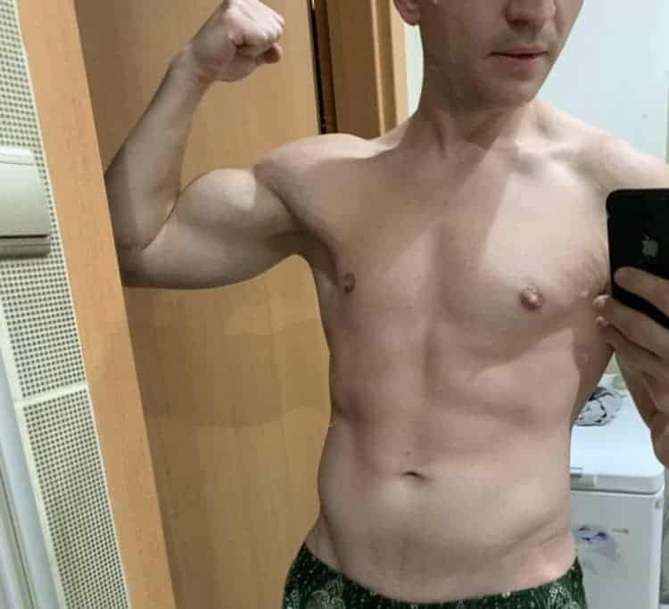 picture of results after omad