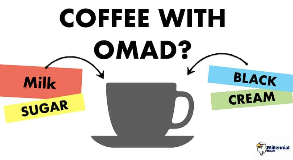 drinking coffee on omad